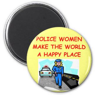 mujeres de la policía imán redondo 5 cm