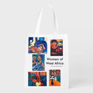 Mujeres de las Áfricas occidentales Bolsas Para La Compra