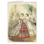 Mujeres de los 1860s del vintage tarjeton