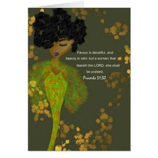 Mujeres de los proverbios tarjeta pequeña
