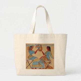 Mujeres de Minoan pintadas hacia 1550-1450 A.C. Bolsas