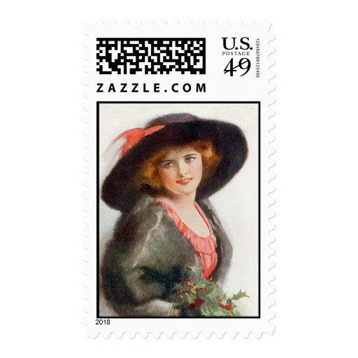 Mujeres de moda de la antigüedad y del vintage (7) sellos postales