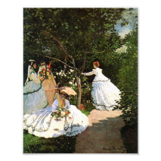 Mujeres de Monet en el jardín Foto