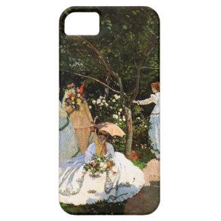 Mujeres de Monet en el jardín iPhone 5 Carcasas