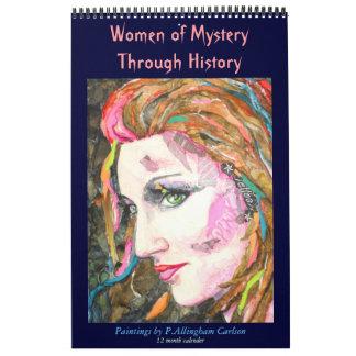 Mujeres de PMACarlson del misterio con la historia Calendario