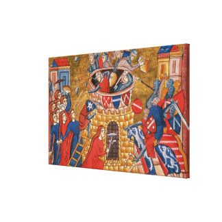 Mujeres de Scythian que sitian a sus enemigos Lona Envuelta Para Galerías