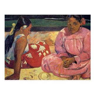 """""""Mujeres de Tahitian en la postal de Gauguin de la"""