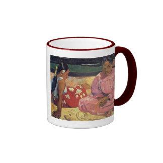"""""""Mujeres de Tahitian en la taza de Paul Gauguin de"""
