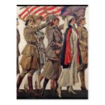 Mujeres de WWI que cuidan a reclutadores