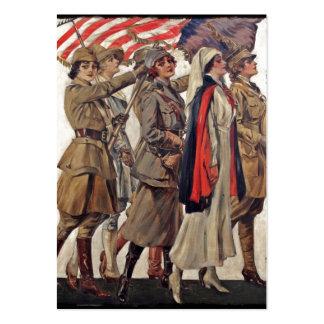 Mujeres de WWI que cuidan a reclutas Tarjetas De Visita Grandes
