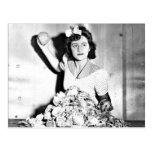 Mujeres de WWII en la postal de esfuerzo del Homef