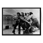 Mujeres de WWII en la postal de esfuerzo del Tarjeta De Felicitación