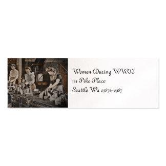 Mujeres de WWII en planta de fabricación Tarjetas De Visita Mini