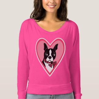Mujeres del amor de Boston Terrier de la camisa
