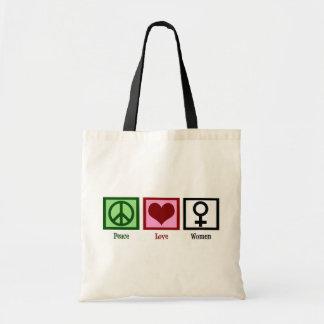 Mujeres del amor de la paz bolsa