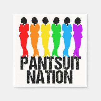 Mujeres del arco iris de la nación del Pantsuit Servilleta Desechable