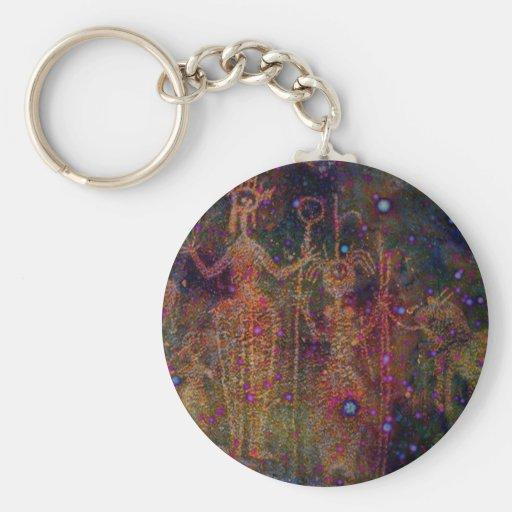 Mujeres del arco iris llavero redondo tipo pin