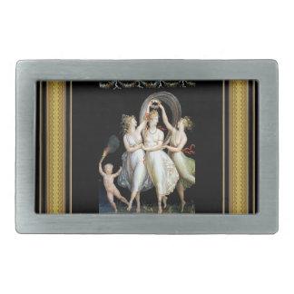 Mujeres del baile hebillas cinturón rectangulares