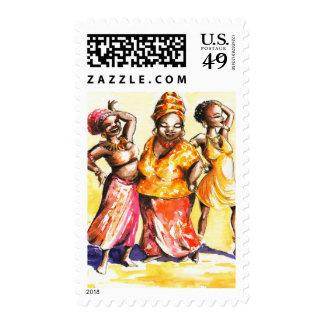 Mujeres del baile franqueo