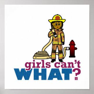 Mujeres del bombero impresiones