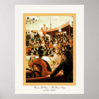 Mujeres del ~ de París el ~ James Tissot del amant Posters
