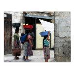 Mujeres del maya, Antigua, Guatemala Postal