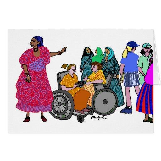 Mujeres del mundo - 3 tarjeta de felicitación