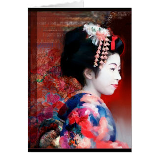 Mujeres del mundo: Notecard del geisha Tarjeta