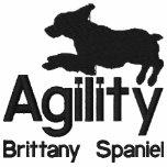 Mujeres del perro de aguas de Bretaña de la agilid Sudadera Bordada Con Capucha