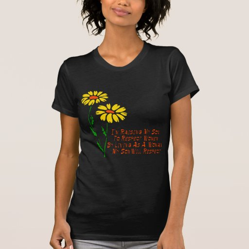 Mujeres del respecto camisetas