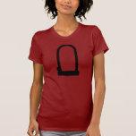 Mujeres del rojo de la U-Cerradura Camisetas