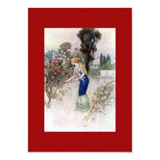 Mujeres del Victorian en la invitación del jardín