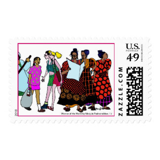 Mujeres del World/2 Timbres Postales