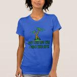 Mujeres divertidas del treehugger camiseta