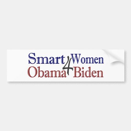 Mujeres elegantes para Obama Biden Etiqueta De Parachoque