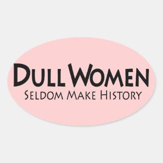 Mujeres embotadas pegatina ovalada