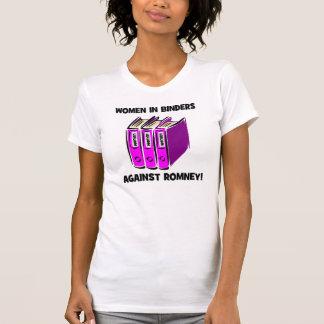 mujeres en carpetas contra Romney Camiseta