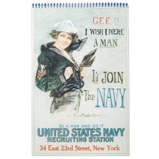 Mujeres en el calendario 2011 del poster de la