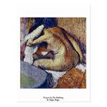 Mujeres en el frotamiento de Edgar Degas Tarjetas Postales