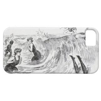 Mujeres en el mar - arte del vintage de Gibson Funda Para iPhone SE/5/5s
