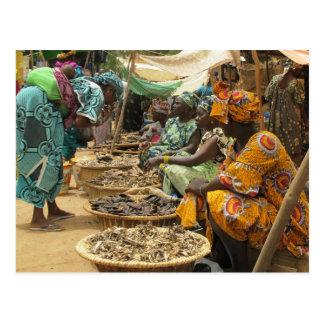 Mujeres en el mercado de lunes, Djenne-3 de Malí Postal