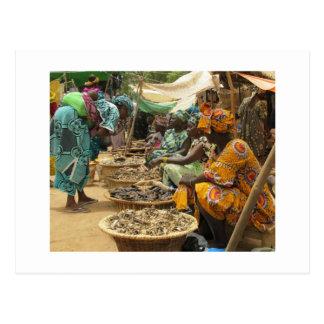 Mujeres en el mercado de lunes, Djenne-3 de Malí Postales