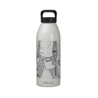 Mujeres en el trabajo botella de agua reutilizable