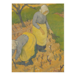Mujeres en el viñedo, 1890 tarjeta postal