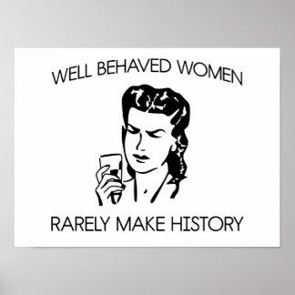 Mujeres en historia póster