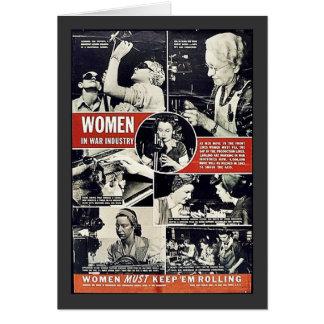 Mujeres en industria de la guerra felicitaciones