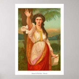 Mujeres en la biblia - Deborah Póster