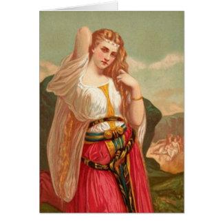 Mujeres en la biblia - la hija de Jephthah Tarjeta De Felicitación