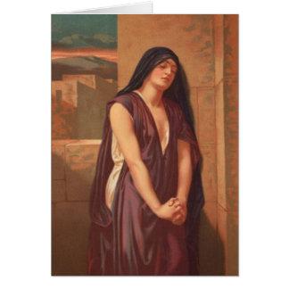 Mujeres en la biblia - la viuda de Nain Tarjeta De Felicitación
