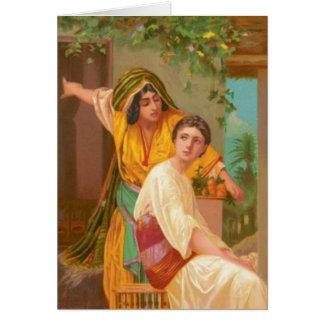 Mujeres en la biblia - Martha y Maria Tarjeta De Felicitación